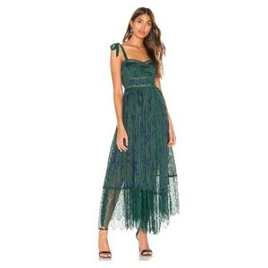 Free People Seven Wonders Maxi Midi Emerald Dress